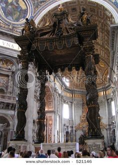 St. Peters Basilica - the baldachino... I've wanted to see this ever since we studied it in art history