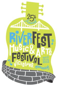 Riverfest Music & Arts Festival Logo designed by Drawl Creative, Amy Clark & Samantha Gibbons in Birmingham Alabama Music Festival Logos, Festival Flyer, Festival Posters, Art Festival, Music Festivals, Event Branding, Cool Fonts, Art Music, Graphic Design Inspiration
