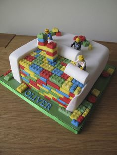Lego - by littlecakeoven @ CakesDecor.com - cake decorating website Krisha this is the cake I want for Ben in September!!! Get to work lady! Haha