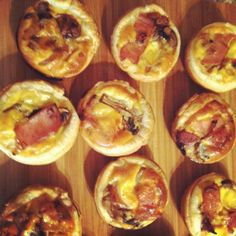 Bacon, Mushroom and Onion Mini Quiches - Sweet Little Pretties