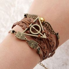 Free shipping-Deathly Hallows Bracelet Harry by TheBlackwoodZ