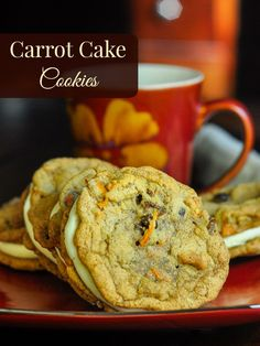 Soft and chewy carrot cake cookies that are delicious all on their own but even better sandwiched together with classic cream cheese frosting.