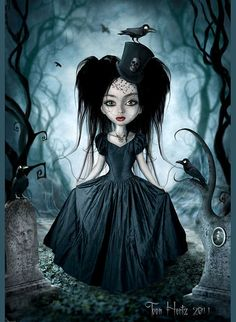How gloriously Gothic!! I want!! Doll in the woods