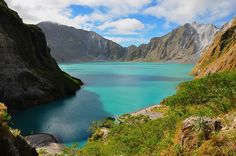 Crater Lake, Mount Pinabuto – Luzon, Philippines  Lake Pinatubo is the summit crater lake of Mount Pinatubo formed after its climactic eruption on June 15, 1991. The lake is located near the boundaries of Pampanga, Tarlac and Zambales provinces in the Philippines and is the deepest lake in the country at 800 m (2,600 ft). It is about 90 km (56 mi) northwest of the capital city of Manila.