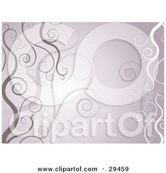 Clipart Illustration of a Background Of Brown, Purple And White Vines by KJ Pargeter