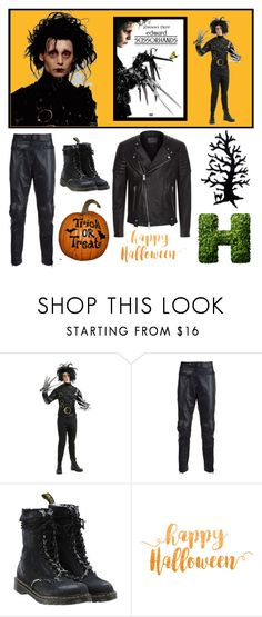 """""""Edward Scissorhands"""" by muskrosevintage ❤ liked on Polyvore featuring Topman, Juun.j, Off-White, AllSaints, men's fashion, menswear, movies, MensFashion and moviesandfashion"""