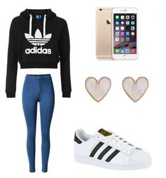"""""""adidas"""" by veronicasahowell on Polyvore featuring Topshop, adidas and New Look"""