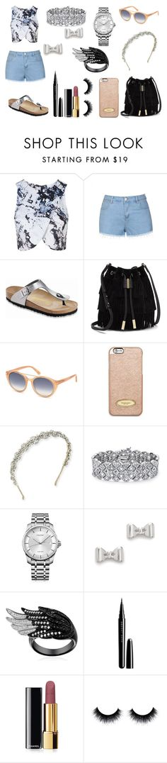 """""""Sin título #752"""" by pinkybunny on Polyvore featuring moda, Topshop, Ally Fashion, Birkenstock, Vince Camuto, Tom Ford, MICHAEL Michael Kors, Jennifer Behr, Palm Beach Jewelry y Calvin Klein"""