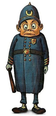 Endeavour Toys - Palmer Cox Brownie Policeman Illustration.