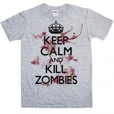Keep Calm and Kill Zombies £14.99 #zombies #keepcalm