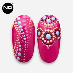 Instagram @academia_np Dot Nail Designs, Gel Designs, Nail Designs Spring, Dot Nail Art, Polka Dot Nails, Perfect Nails, Gorgeous Nails, Almond Nails Designs Summer, Simple Art Designs