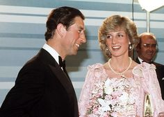 April 14 1983 Prince Charles and Princess Diana attends the Royal Gala Concert, Melbourne Concert Hall in Victoria, Australia.