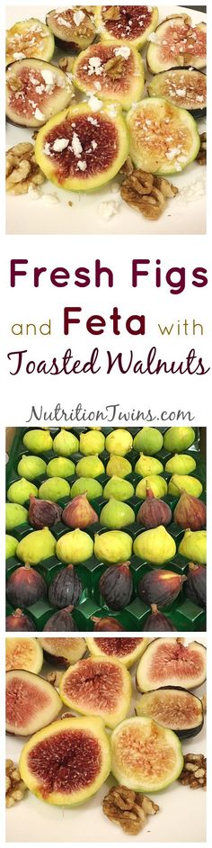 Fresh Figs and Feta With Toasted Walnuts | Only 40 calories |Sweet, Savory & Crunchy | Elegant for guests OR Easy healthy dessert |NO added sugar |For MORE RECIPES, fitness & nutrition tips please SIGN UP for our FREE NEWSLETTER www.NutritionTwins.com