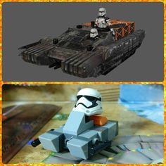 Día 20: Imperial assault hovertank (TX-225)  #starwars #rogueone #tank #Lego #instalego #legogram #afol #adventcalendar #calendarioadviento