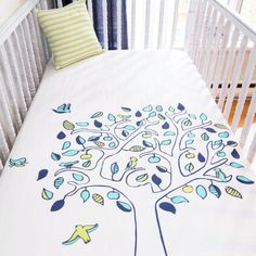 Crib Fitted Sheet - Apple Tree