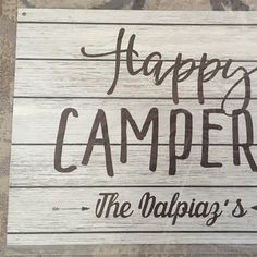 Custom Name Camping Happy Campers Home Metal Sign