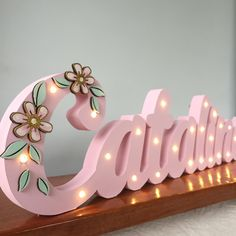 Baby Crafts, Diy And Crafts, Gold Acrylic Nails, Storybook Cottage, Decoupage, Baby Mobile, Marquee Lights, Cnc Projects, Name Gifts