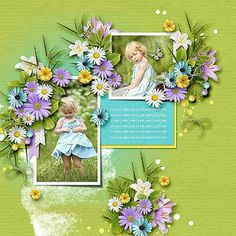 ScrapSimple Digital Layout Templates: Happy Memories by CarolW Designs Easter Dreams by TraceyB Creations photo Irina Sapronova use with permission Layout Template, Templates, Absolutely Gorgeous, Scrapbook Layouts, Scrapbooking, Beautiful Pictures, Colours, Memories, Christmas Ornaments