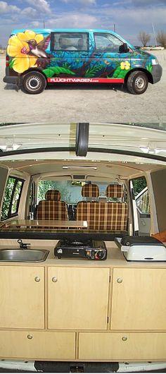 VW T5 - einzigartige Bullis mit Wohnmobilausbau für 3 Personen #vw #t5 #camper #camping #campingvan #campanda
