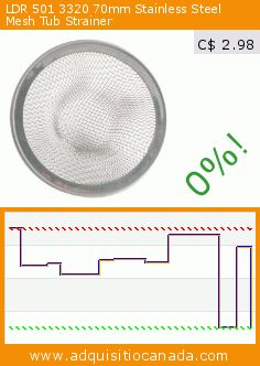 LDR 501 3320 70mm Stainless Steel Mesh Tub Strainer (Tools & Hardware). Drop 62%! Current price C$ 2.98, the previous price was C$ 7.90. http://www.adquisitiocanada.com/ldr/501-3320-70mm-stainless