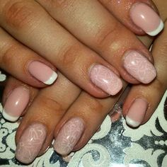 #nails #french #pink #cute
