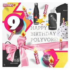 """Happy Birthday, Polyvore! -  ""Contest Entry"""" by blackfury ❤ liked on Polyvore featuring art, contestentry, happybirthdaypolyvore and blackfury"