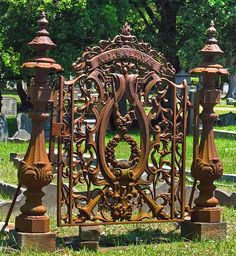 Charleston SC, Anthony j Salinas, cotton factor and merchant, Old Gates, Old Cemeteries, Graveyards, Sculpture Metal, Portal, Wrought Iron Gates, Cemetery Art, Iron Work, Architectural Salvage