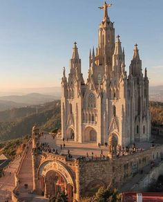 Church of the Sacred Heart of Jesus located on the summit of Mount Tibidabo in Barcelona, Catalonia, Spain.