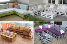 FabArtDIY Pallet Home Decorating and Furniture Projects and Tutorials - DIY Pallet Sofa Lounge