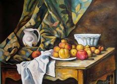 (Contrast) Paul Cézanne, Still Life with Apples and Peaches, National Gallery of Art, Washington, DC Still Life With Apples, Paul Cézanne, National Mall, National Gallery Of Art, Peaches, Washington Dc, Four Square, Contrast, Classroom