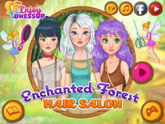Have a fun time playing Enchanted Forest Hair Salon! Games For Girls, Fun Games, Enchanted, Good Times, Salons, Anime, Movie Posters, Amazing, Design