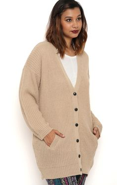 Deb Shops Plus Size Long Sleeve Shaker Stitch Long Tunic Cardigan with Pockets $20.10