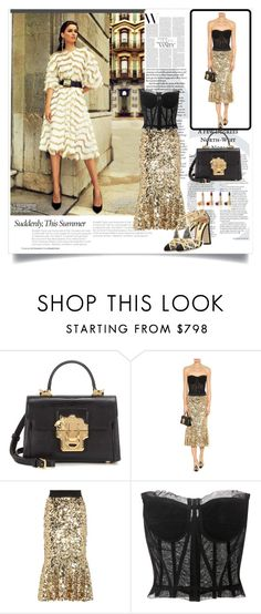 """""""DOLCE GABBANA GLAMUR OUTFIT"""" by rousou ❤ liked on Polyvore featuring Dolce&Gabbana"""