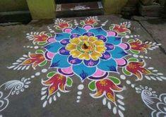 Crochet Easy Summer Ideas 35 Ideas Source by isslemynizzle Indian Rangoli Designs, Rangoli Designs Latest, Simple Rangoli Designs Images, Rangoli Designs Flower, Rangoli Border Designs, Rangoli Patterns, Rangoli Ideas, Rangoli Designs With Dots, Kolam Rangoli