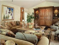 Country/Rustic (Country) Living Room by Barbara  Schlattman