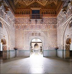 SPAIN / MUDÉJAR Style - Mudéjar style: a symbiosis of techniques and ways of understanding architecture resulting from Muslim and Christian cultures living side by side, emerged as an architectural style in the 12th century on the Iberian peninsula...Mudéjar Stiyle - , CASA DE PILATOS SEVILLA. SPAIN .