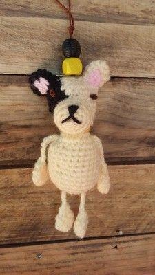 DOG Keyring, keychain, bagjewel.... Amigurumi crochet Mes Amigurumis crochet
