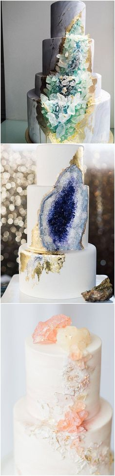 unique Geode and Quartz Wedding Cakes | LatterDayBride | #weddingcake #wedding #modestwedding
