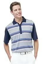 Greg Norman | Mens Golf Shirts | Del Sol Stripe Polo
