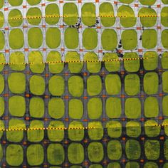 "Jeanne Williamson ""The Ground Through the Fence #""  mixed media on cradled board, 2013"