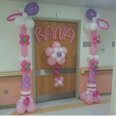 Hospital door decor new born on pinterest hospital for Baby girl hospital door decoration