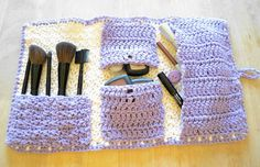 The Nell Makeup Bag in Cream and Lavender by Nell22 on Etsy, $25.00