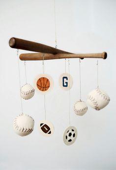 Sports Mobile for Nursery or Kid's Room. $135.00, via Etsy.
