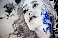 """Hold Me"" [detail] by Gabriel Moreno"