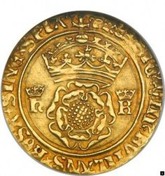 Coin from the reign of Henry VIII during his marriage to Catherine of Aragon; features a Tudor rose, crown and crowned monograms. Marie Tudor, Dinastia Tudor, Tudor Rose, Tudor History, British History, Asian History, Elisabeth I, Tudor Dynasty, King Henry Viii