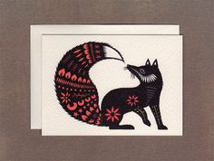 Fox Tale - Small Greeting Card on Etsy, $3.00