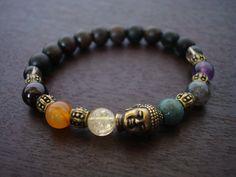 Women's Buddha Chakra Mala Bracelet - $24 #chakrabracelet #buddhabracelet #5thelementyoga
