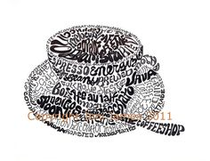 cafe art http://www.etsy.com/mx/listing/73388499/coffee-art-drawing-coffee-typography?ref=related-0