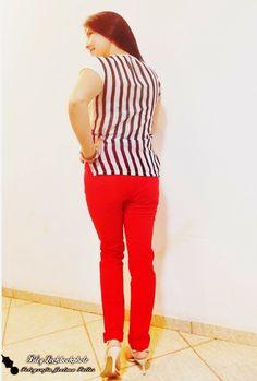 """""""Look do dia,calça vermelha + T-shirts ☺ ."""" por Joelma Salles em julho 7, 2014"""