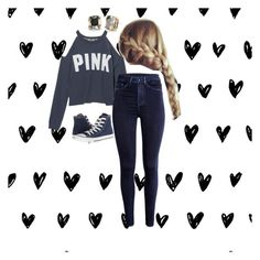 """""""Untitled #77"""" by char-pisces ❤ liked on Polyvore featuring Converse and Kate Spade"""